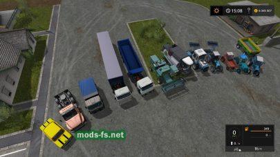 Большой пак русской техники для Farming Simulator 2017
