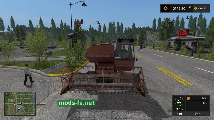 скачать мод комбайн нива для farming simulator 2017
