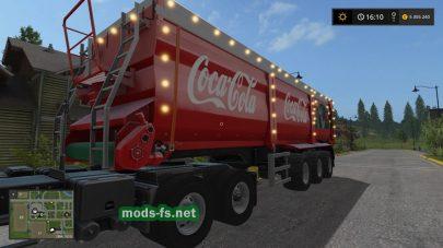 Прицеп Coca Cola для Farming Simulator 2017