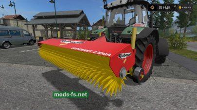 Щетка для уборки в игре Farming Simulator 2017