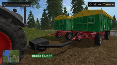 Farming Simulator 2017: мод сцепки для прицепов