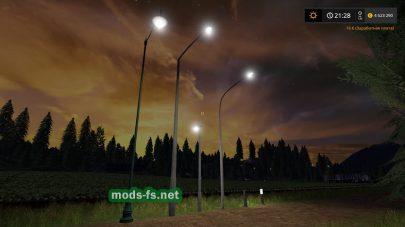 Уличные фонари для Farming Simulator 2017