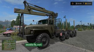 УРАЛ лесовоз для Farming Simulator 2017