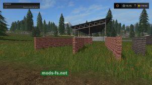 Кирпичные стены для Farming Simulator 2017