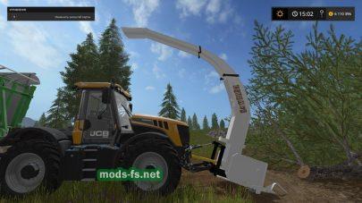 Мод измельчителя древесины Wood Crusher для Farming Simulator 2017