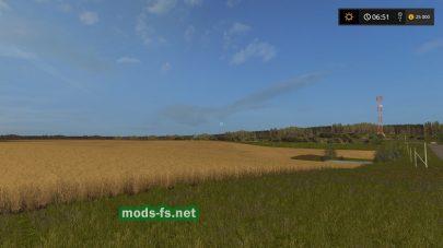 Большие поля на русской карте