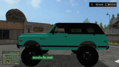 Мод автомобиля Mint Green Chevy K5 Blazer для FS 2017
