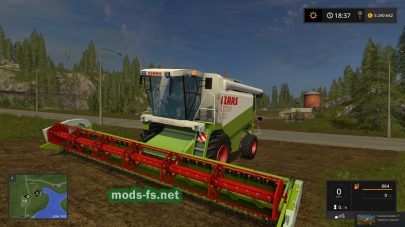 Мод комбайна CLAAS LEXION 480 Farming Simulator 2017