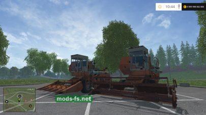 Комбайн Енисей 1200 с жатками для FS 2015
