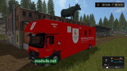 грузовик для животных в FS 2017
