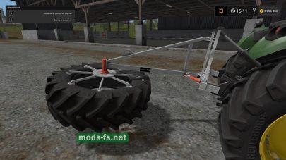 Мод устройства для подравнивания корма в игре FS 2017