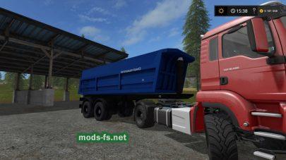 Мод на прицеп для тягача в игре Farming Simulator 2017