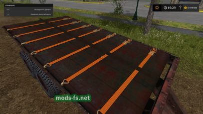 PRT 10 With Autoload: платформа для тюков в Farming Simulator 2017