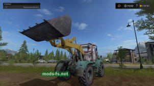 Мод трактора T-150 TO-25 с лопатой