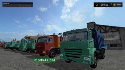 Пак грузовиков КамАЗ для Farming Simulator 2017