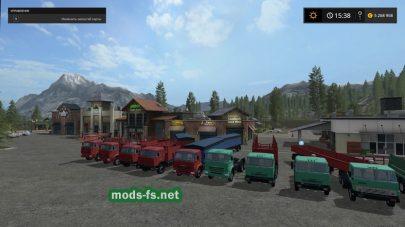 Мод пак русских грузовиков с прицепами