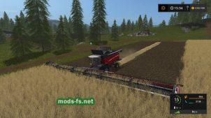 Мод широкой жатки для Farming Simulator 2017