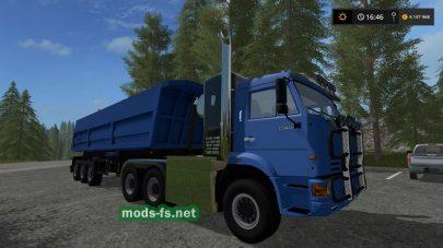 Тюнингованный тягач КамАЗ для Farming Simulator 2017