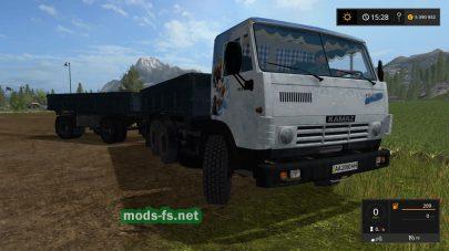 kamaz-5320 с прицепом nefaz-8560