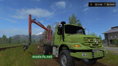 Лесовоз Mercedes Benz Zetros для Farming Simulator 2017