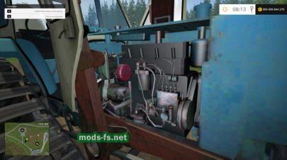Мод трактора с резиновыми гусеницами