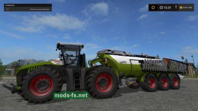 Мод трактора Xerion с прицепом и цистерной для FS 2017