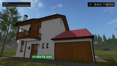 Перемещаемый дом для игры Фермер Симулятор 2017