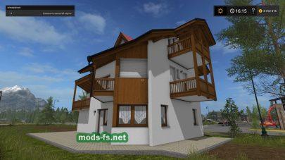 Мод объекта для FS 2017: дом с гаражом