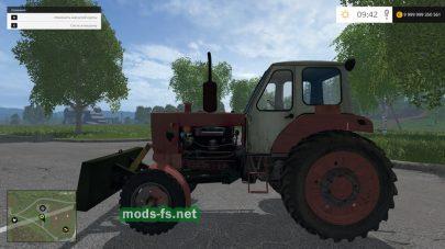 Мод трактора ЮМЗ-6 с отвалом