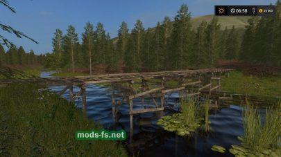 Мост на карте в FS 2017