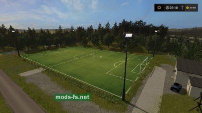 Футбольное поле в игре Farming Simulator 2017