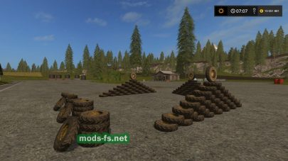 Гора колес в Farming Simulator 2017