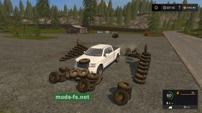 Покупка колес в игре FS 17
