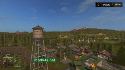 Деревня на карте Woodshire