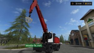 Мод на погрузчик Fuchs MHL 350 для Farming Simulator 2017