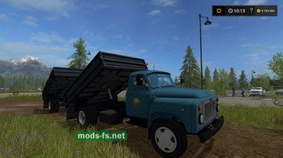 Мод русского грузовика ГАЗ-53 с прицепом