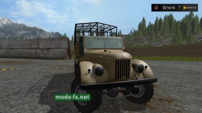 Мод на ГАЗ-69 для перевозки животных