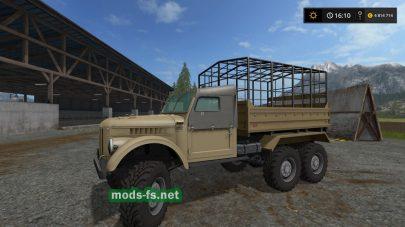 ГАЗ-69 для игры Фермер Симулятор 2017