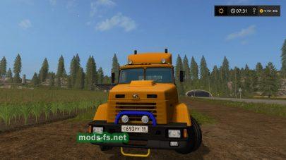 Тягач КрАЗ 64431 для Farming Simulator 2017