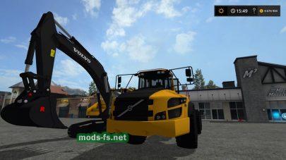 Мод экскаватора Volvo EC300E Excavator для FS 2017