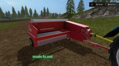 Скриншот мода тюковщика Welger AP 730