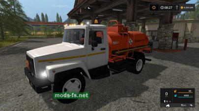 Мод ГАЗ-3309 с цистерной для Farming Simulator 2017