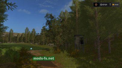 Лес в игре FS 17