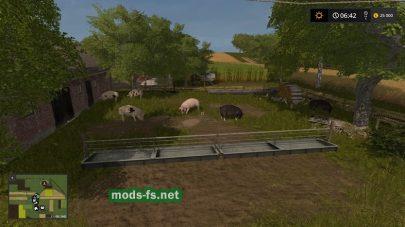Свиньи на карте в игре Farming Simulator 2017