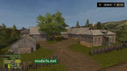 Старая деревня в игре Farming Simulator 2017