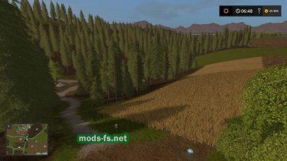 Лес и поле на карте «Где-то в Тюрингии»