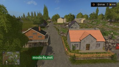 Деревня в Farming Simulator 2017