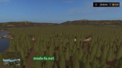 Лес на карте «Kyffhauser»