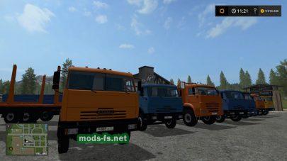 Подборка модов русских грузовиков КамАЗ