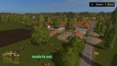Деревня на карте Three Star Hof
